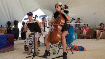 Burning Man music cellist 2014 Jaki Levy