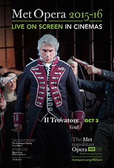 Met Live IlTrovatore poster