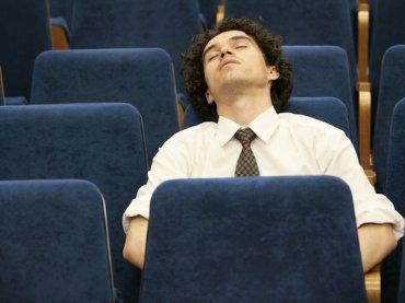 sleeping audience istock