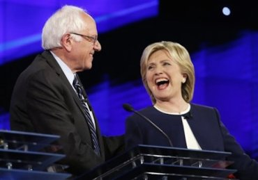bernie sanders and hillary clinton in presidential debate