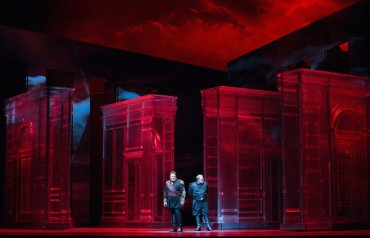 Otello (Aleksandrs Antonenko) and Iago (Zeljko Lucic, right) CR Sara Krulwich NYT