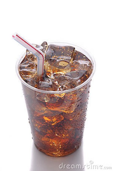 soda in a plastic cup