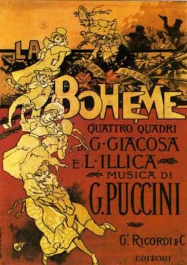 La Boheme 1896 poster by Adolfo Hohenstein