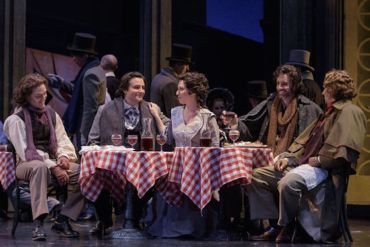 Madison Opera Boheme cafe sceneJames Gill