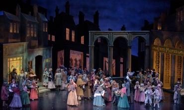 Madison Opera Boheme outdoor scene GILL