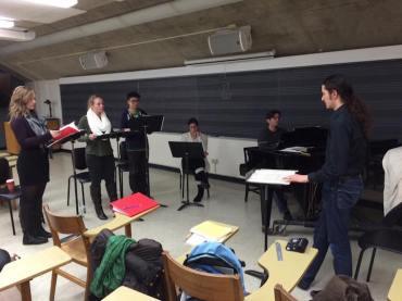 Impresario Opera rehearsing