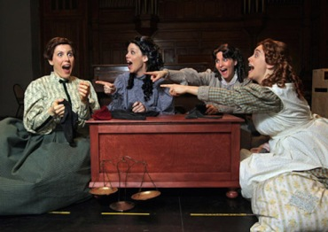 Christina Ryan,Calgary Herald CALGARY, AB.:JANUARY 21, 2010 -- Calgary Opera's Canadian premiere production 'Little Women' stars Krisztina Szabo as Meg, Allyson McHardy as Joe, Mariateresa Magisaro as Beth, and Catherine May as Amy in Calgary on January 21, 2010.(Photo by Christina Ryan/Calgary Herald) (for Entertainment story by Bob Clark)00025573A