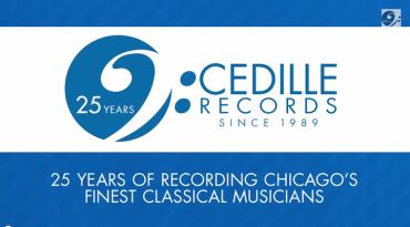 Cedille Records 25th anniversary logo