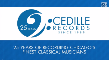 Cedille Records 25th anniversary logo