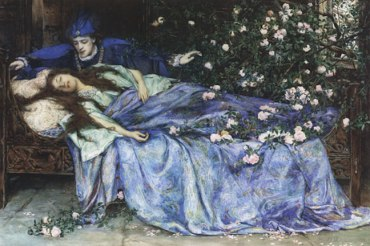 Henry Meynel Rheam painting Sleeping Beauty