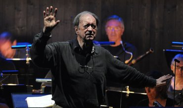 Nikolaus Harnoncourt rehearsing in 2012 Getty Images
