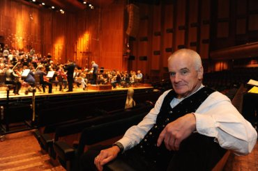 Peter Maxwell Davies at rehearsal