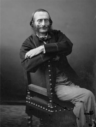 Jacques Offenbach seated