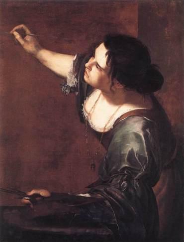 Artemisia Gentileschi self-portrait c1630