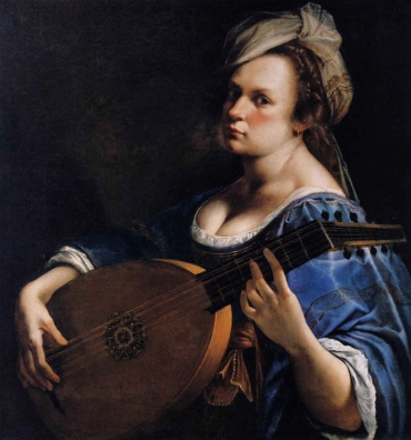 Laura Schwendinger Artemisia Gentileschi Self-Portrait as a Lute Player