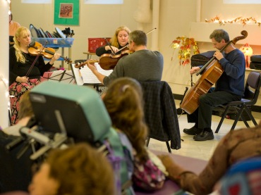MSO HeartStrings outreach with Rhapsodie Quartet playing