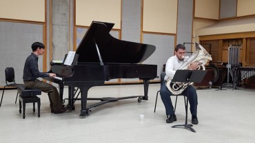 Pat Doty Playing Tuba with pianist Steven Thompson
