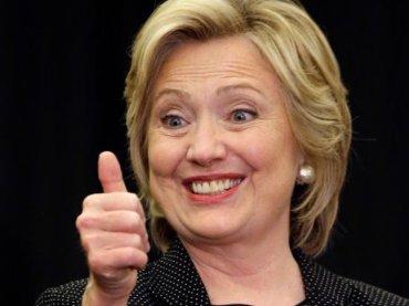 hillary clinton thumbs up