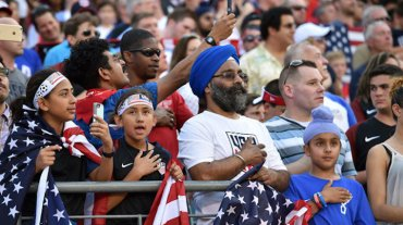 Fourth of July crowd diverse Nicholas Kamm: Getty Images