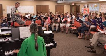 Isthmus Vocal Ensemble rehearsing 2016