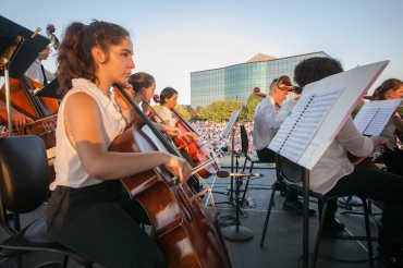 WYSO Concert in Park 2016 cellos 2